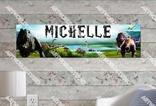 Personalized/Customized Dinosaurs Name Poster Wall Art Decoration Banner