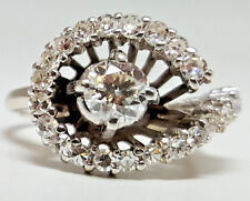 Pre-Owned 1950's DIAMOND White-GOLD Ring - R9537
