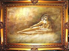 ROMAN WARRIOR SCULPTURE HAND PAINTED oil painting paint wall decor art gift F180
