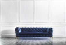 Chesterfield Sitz Textil Stoff 2 Sitzer Wohnzimmer Couch Sofa Polster Garnitur