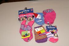 LOT OF 6 GIRLS SZ 0-24 MONTHS MINNIE MOUSE, ABBY CADABBY, CHRISTMAS, ETC SOCKS