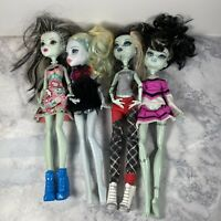 Lot of 4 MONSTER HIGH Dolls Clothes 2008 2009 2015