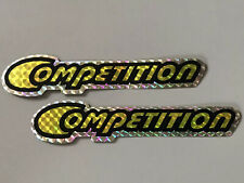 Sting Competition Yellow original NOS downtube decals Schwinn BMX stickers