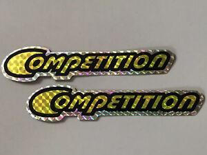 Sting Competition Yellow original NOS downtube decals Schwinn BMX stickers