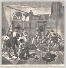 """Berlin-Hermann Gladenbeck""""Guß i.d.Gladenbeck´schen Erzgießerei""""Holzstich v.1884"""