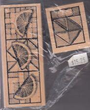 "fruit cutting board club scrap Wood Mounted Rubber Stamp 1 1/2x 4"" 1 1/2 x 2"""