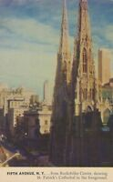 NEW YORK CITY – Fifth Avenue and St. Patrick's from Rockefeller Center Macy PC