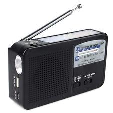 NOAA Weather Alert Radio FM/AM Solar Hand Crank Dynamo Emergency Tool+Flashlight