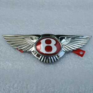 New Bentley Continental GT GTC Flying Spur Emblem Front Grille Wing Badge Red