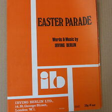 song sheet EASTER PARADE Irving Berlin
