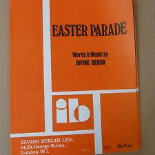 song sheet EASTER PARADE Irving Berlin