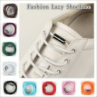 Quick No Tie Lazy Shoe Laces String Locking Elastic Buckle Shoelaces For Sn Q8B1