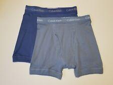 Calvin Klein Boxer Briefs - Small - Blue two shades - 2 Briefs