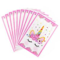 Unicorn Happy Birthday Party Favor Goody Loot Bags for Kids Pack of 10