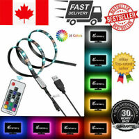 3M 5V SMD USB LED STRIP LIGHTS TV BACK RGB COLOUR CHANGING & REMOTE CONTROL
