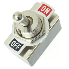 SPST Toggle Switch with On/Off Label Plate