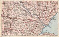 POSTCARD VINTAGE LINCOLNSHIRE AREA MAP  - BOSTON - SWINESHEAD