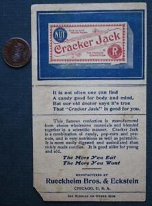 1910s Pre-World War I Cracker Jack candy popcorn riddles advertising tradecard!