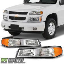 2004-2012 Chevy Colorado GMC Canyon Chrome Bumper Parking Signal Lights Lamps
