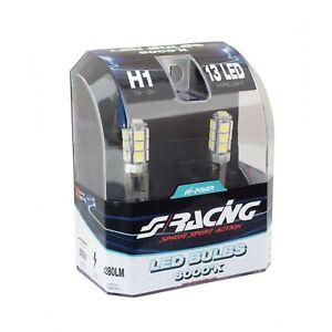 Kit 2 lampadine auto a led H1 12 led 12 volt Led racing bulbs Simoni Racing