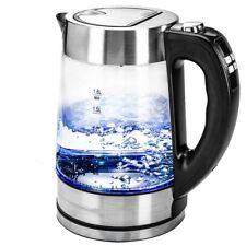Glas Wasserkocher 1,8l Temperaturwahl LED Kabellos Edelstahl 2200W
