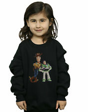 Disney Girls Toy Story Buzz And Woody Standing Sweatshirt