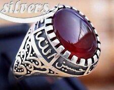 Guaranteed Red AQEEQ Shia Men Ring 925 STERLING SILVER  ahlulbayt ehlibeyt quran