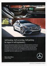 2017 Mercedes Benz E300 Sport Sedan Original Advertisement Print Art Car Ad J547