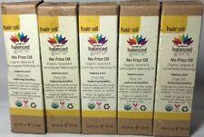 5 Pack Balanced Guru No Frizz Hair Oil Organic Sesame & Lemongrass .5 Fl Oz New