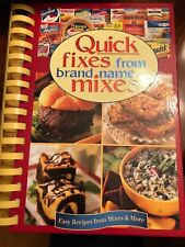 Quick Fixes from Brand Name Mixes (2003, Hardcover Spiral) VGC!