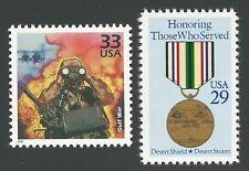 Operation Desert Shield Storm Kuwait Iraq Persian Gulf War US Stamp Set MINT NH!
