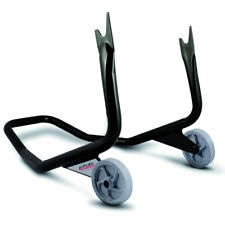 Valter Moto - Cavalletto posteriore a forchetta STREET - Acciaio regolabile Nero