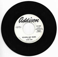 Jamie Coe-Addison 15003 Promo Raro Teen Rockabilly 45 RPM School Day Blues M