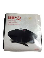 Weber 9895 Grill Cover Fits Q200 & Q220 Series Gas Grills Black Grill cover. D7