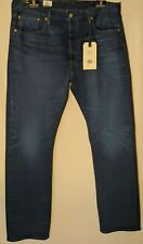 "MEN'S LEVI'S JEANS 501 STRAIGHT STRETCH BLUE SIZE 38 LEG 34"" NWT RRP $149.95"