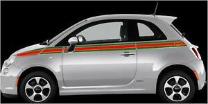 Fiat 500 SE5 ITALIAN GUCCI STRIPE VINYL GRAPHICS STICKERS CALCOMANIAS LINEAS