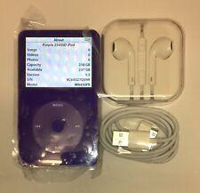 Purple iPod Classic 5.5th Generation 256GB 1950mAh Battery Wolfson Digital