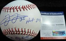 PSA/DNA FRANK THOMAS CAREER STAT 13 INSCRIPTIONS AUTOGRAPHED-SIGNED BASEBALL 692