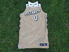 Gilbert Arenas Washington Wizards NBA Gold Throwback Adidas Jersey 0 +4