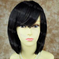 Wiwigs Stunning Soft Short Black Bob Skin Top Ladies Wig