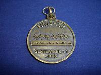 "5th Anniversary, Los Angeles Triathlon, 2005 Finisher pendant, 1 1/2"""