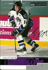Thatcher Bell CHL Autographed card