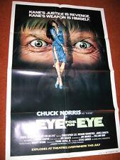 AN EYE FOR AN EYE (ADVANCE) original MOVIE POSTER >1981 Chuck Norris karate