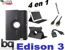 """PACK 4 IN 1 COVER SWIVEL FOR TABLET BQ EDISON 3 QUAD CORE 10.1"""" + ACCESSORIES"""
