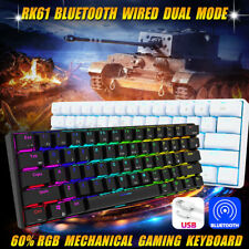 RK61 Bluetooth+USB Ergonomic Keypad RGB Backlight Mechanical Gaming PC