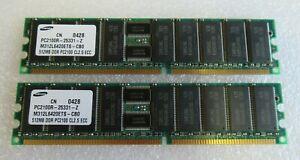 Samsung M312L6420ETS-CB0 1GB (2x512MB) PC2100 DDR-266MHz ECC CL2.5 184P Memory