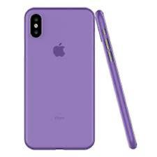 Luxury Purple Apple iphone X Case Worlds Thinnest Semi Transparent Shock Proof