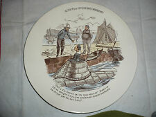 Assiette Sarreguemines inventions sous-marin pipe Mer Matelot dessin de Enault ?