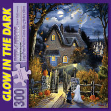 300 Large Piece Glow in the Dark Puzzle-Tess's Halloween by Christine Carey