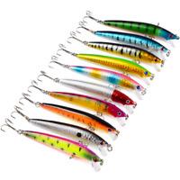 10pcs/Lot Rattle Fishing Lures Crankbaits Hooks Minnow Baits Tackle 9.5cm/8.5g